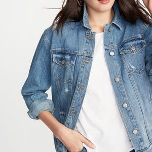 Women's Old navy medium wash jean jacket sz XL